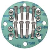 FNW® 12 in. 150# Zinc Non-Asbestos 1/8 Full Face Nut, Bolt, Gasket Set FNWNBGZ1NAF812