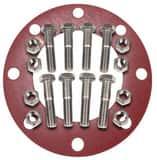 FNW 150# Zinc Red Rubber 1/16 Full Face Nut, Bolt, Gasket Set FNWNBGZ1RF6