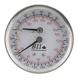 Boshart Industries 2 in. 100 psi Liquid Filled Back-Out Pressure Gauge BPGCBM1100GNL