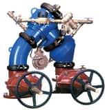 Zurn Wilkins Model 475DA 4 in. Epoxy Coated Ductile Iron Flanged 175 psi Backflow Preventer W475DALFP