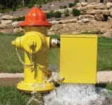 Kupferle, John C Foundry Eclipse #9700 FNST 2-1/2 in. Automatic Flushing Device and Hydrant Flusher in Yellow K9700AYEL at Pollardwater