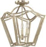 Capital Lighting Fixture 60W 3-Light Candelabra Pendant in Winter Gold C9651WG