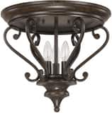 Capital Lighting Fixture Maxwell 15-1/4 in. 3-Light Ceiling Fixture in Chesterfield Brown C4533CB