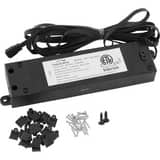 Progress Lighting Hide-a-Lite 4 24V 100W Zero Load LED Tape Transformer in Black PP868331