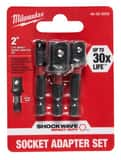 Milwaukee SHOCKWAVE™ HEX Shank Socket Adapter Set 3-Piece M48325033