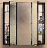 Robern PL Series 30 x 36 x 4-5/8 in. Single Door Mirror Medicine Cabinet in Classic Grey RPLM3630G