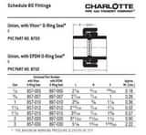 Slip Schedule 80 PVC EPDM Union P80SU