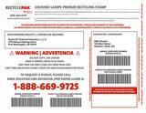 Veolia ES RecyclePak® 55 gal Crushed Lamp Prepaid Stamp VSUPPLY276