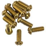 Lincoln Products® 1/2 x 10/24 in. Brass Bibb Screw Contractor 12-Pack LIN119259