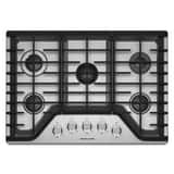 Kitchenaid 30 in. 5-Burner Natural Gas Cooktop in Stainless Steel KKCGS350ESS