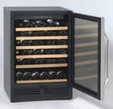 Avanti 24 in. 50-Bottle Wine Cooler in Black Cabinet with Glass Door AWCR506SS