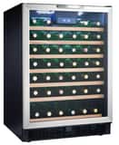Danby Products Built-In Wine Cooler with Reversible Door in Stainless Steel DDWC508BLS