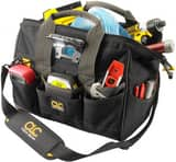CLC Custom Leather Craft 11-1/2 in. LED Lighted Tool Bag CLCL230