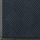 M+A Matting Waterhog™ Diamond Classic Cleated Backing Mat in Charcoal A208540046