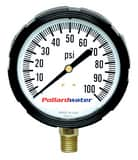 Thuemling Industrial Products Bourdon 2-1/2 in. 200 psi Liquid Filled Pressure Gauge MNPT T4108852 at Pollardwater