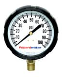 Thuemling Industrial Products 2-1/2 in. 60 psi Bottom Mount Glycerine Pressure Gauge T4104239 at Pollardwater