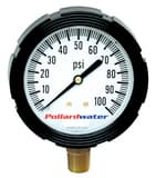Thuemling Industrial Products Bourdon 3-1/2 in. 160 psi Liquid Filled Pressure Gauge MNPT T6107110 at Pollardwater