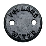 Mueller Industries 2-Hole Cast Iron Curb Box Cover M89984 at Pollardwater