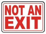 Accuform Signs 14 x 10 in. Adhesive Vinyl Sign - NOT AN EXIT AMEXT911VS at Pollardwater