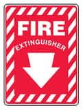 Accuform 14 in. Vinyl Adhesive Fire Extinguisher Sign AMFXG908VS