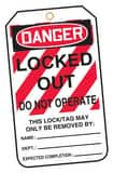 Accuform Signs Accident Prevention Tag Plastic 6 x 3-1/2 in. 25/Pk - DANGER LOCKED OUT DO NOT OPERATE AMLT407PTP at Pollardwater