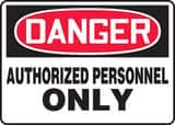 Accuform 14 x 10 in. Aluminum Sign - DANGER AUTHORIZED PERSONNEL ONLY AMADM006VA