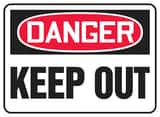Accuform Signs 14 x 10 in. Aluminum Sign - DANGER KEEP OUT AMADM064VA at Pollardwater