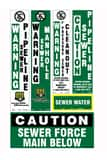 Repnet TracerPed™ 66 in. Standard Sewer Pipeline Decal on White Background RGD1316C at Pollardwater