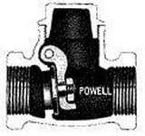 William Powell Co Figure 578 Bronze Threaded Check Valve P578