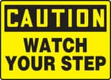 Accuform 10 x 14 in. Caution Watch Your Step Sign AMSTF661VS at Pollardwater