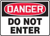 Accuform 14 x 10 in. Plastic Sign - DANGER DO NOT ENTER AMADM139VP