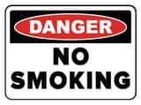 Accuform Signs 14 x 10 in. Aluminum Sign - DANGER NO SMOKING AMSMK133VA at Pollardwater
