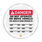 16 Wheel Cover DNGR DO NOT OP MOVE VEH AKDD718 at Pollardwater