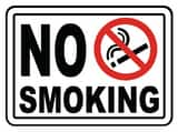 Accuform Signs 14 x 10 in. Adhesive Vinyl Sign - NO SMOKING AMSMK570VS at Pollardwater
