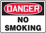 Accuform 14 x 10 in. Plastic Sign - DANGER NO SMOKING AMSMK133VP