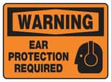 Accuform Signs 10 x 14 in. Aluminum Sign Ear Protection Required AMPPE300VA at Pollardwater