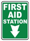 Accuform Signs 14 x 10 in. Adhesive Vinyl Sign - FIRST AID STATION AMFSD960VS at Pollardwater