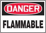 Accuform 14 x 10 in. Adhesive Vinyl Sign - DANGER FLAMMABLE AMCHL231VS