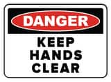 Accuform Signs 14 x 10 in. Aluminum Sign - DANGER KEEP HANDS CLEAR AMEQM050VA at Pollardwater