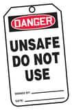 Safety TAG DNGR UNSAFE 25 Pack AMDT126PTP at Pollardwater