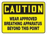 10 X 14 Aluminum SIGN WEAR BREATH APPRTS AMPPE767VA at Pollardwater