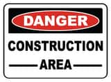 Accuform Signs 14 x 10 in. Adhesive Vinyl Sign - DANGER CONSTRUCTION AREA AMCRT135VS at Pollardwater