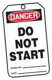 Safety TAG DNGR DO NOT START 25 Pack AMDT114PTP at Pollardwater