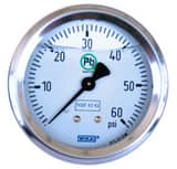 WIKA 2-1/2 x 1/4 in. 160 psi Back Mounted Pressure Gauge W52572706