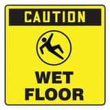Accuform Signs 10 in. Label - Caution - Wet Floor APFC632