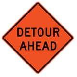 Traffix Devices 36 in. Non-Reflective Vinyl Roll-Up Sign - DETOUR AHEAD T26036EVHFDA at Pollardwater