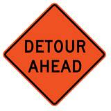 Traffix Devices 48 in. Reflective Vinyl Roll-Up Sign - DETOUR AHEAD T26048EFOHFDA at Pollardwater
