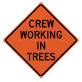 SIGN CREW WORKING IN TREES T26048EVHFCWIT