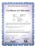 Dickson Company Traceable Certification for Joseph G. Pollard PW860 8 in. Recorder DN300 at Pollardwater