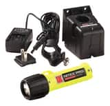 Underwater Kinetics Rechargeable Flashlight with Charger Helmet Clip and AC Power Supply in Yellow U12334 at Pollardwater